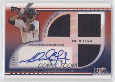 2010 Topps USA Baseball Team Autograph Relics #USAAR-MLO - Michael Lorenzen /219