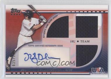 2010 Topps USA Baseball Team Autograph Relics #USAAR-ND - Nick Delmonico /219