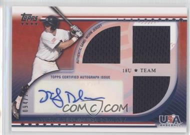 2010 Topps USA Baseball Team Autograph Relics #USAAR-ND - Nicky Delmonico /219
