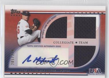 2010 Topps USA Baseball Team Autograph Relics #USAAR-SG - Sean Gilmartin /219