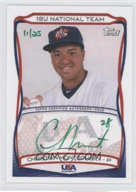 2010 Topps USA Baseball Team Autographs Green Ink #A-6 - Christian Montgomery /25