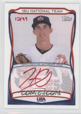 2010 Topps USA Baseball Team Autographs Red Ink #A-12 - Henry Owens /99