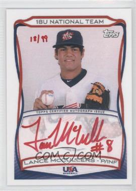 2010 Topps USA Baseball Team Autographs Red Ink #A-15 - Lance McClain /99