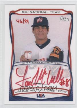 2010 Topps USA Baseball Team Autographs Red Ink #A-15 - Lance McCullers Jr. /99