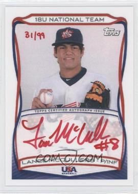 2010 Topps USA Baseball Team Autographs Red Ink #A-15 - Lance McCullers /99