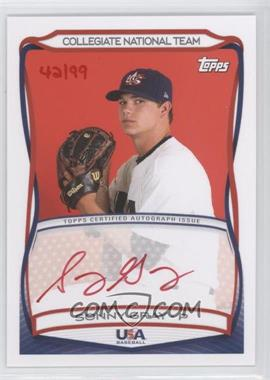 2010 Topps USA Baseball Team Autographs Red Ink #A-28 - Sonny Gray /99