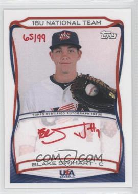2010 Topps USA Baseball Team Autographs Red Ink #A-3 - Blake Swihart /99