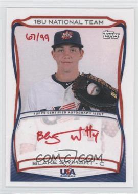 2010 Topps USA Baseball Team Autographs Red Ink #A-3 - Blake Swihart /99