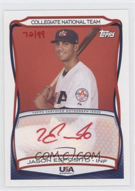 2010 Topps USA Baseball Team Autographs Red Ink #A-38 - Jason Esposito /99