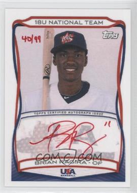 2010 Topps USA Baseball Team Autographs Red Ink #A-4 - Brian Ragira /99