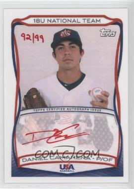 2010 Topps USA Baseball Team Autographs Red Ink #A-7 - Daniel Camarena /99