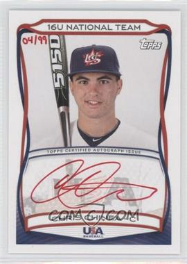 2010 Topps USA Baseball Team Autographs Red Ink #A-TBD - Chris Chinea /99