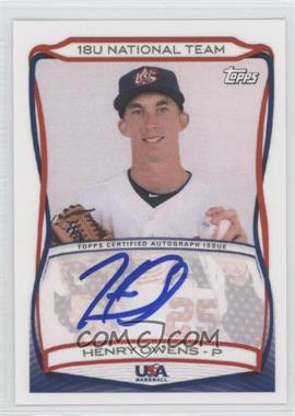 2010 Topps USA Baseball Team Autographs #A-12 - Henry Owens