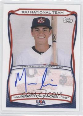 2010 Topps USA Baseball Team Autographs #A-16 - Marcus Littlewood