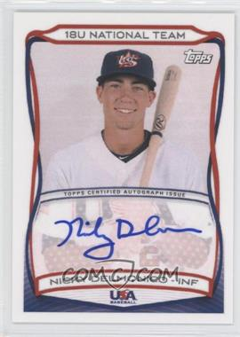 2010 Topps USA Baseball Team Autographs #A-18 - Nicky Delmonico