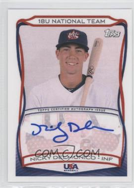 2010 Topps USA Baseball Team Autographs #A-18 - Nicky Delmonico