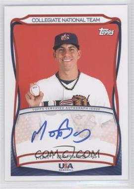 2010 Topps USA Baseball Team Autographs #A-22 - Matt Barnes