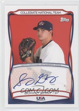 2010 Topps USA Baseball Team Autographs #A-28 - Sonny Gray