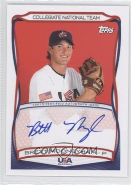 2010 Topps USA Baseball Team Autographs #A-34 - Brett Mooneyham