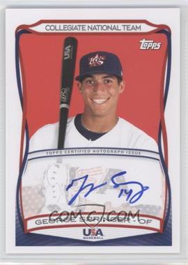 2010 Topps USA Baseball Team Autographs #A-40 - George Springer
