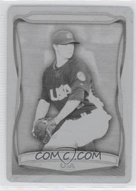 2010 Topps USA Baseball Team Printing Plate Black #USA-30 - Sonny Gray /1
