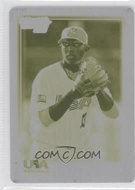 2010 Topps USA Baseball Team Printing Plate Yellow #USA-2 - Daniel Camarena /1