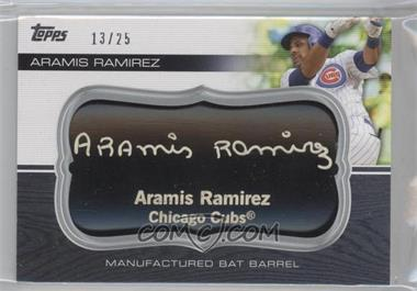 2010 Topps Update Series - Manufactured Bat Barrels - Black #MBB-109 - Aramis Ramirez /25