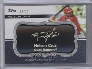 2010 Topps Update Series - Manufactured Bat Barrels - Black #MBB-69 - Nelson Cruz /25