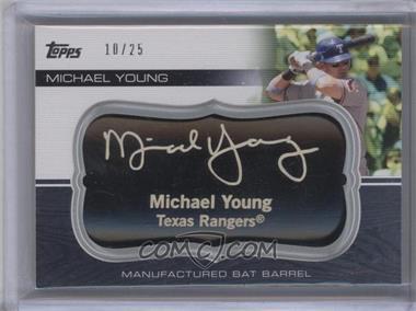 2010 Topps Update Series - Manufactured Bat Barrels - Black #MBB-72 - Michael Young /25
