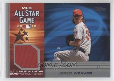 2010 Topps Update Series All-Star Stitches Relics Platinum #AS-JW - Jered Weaver /1