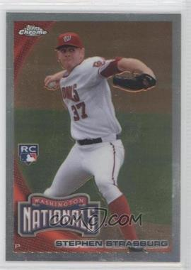 2010 Topps Update Series Chrome Refractor RC Box Loader #CHR01 - Stephen Strasburg