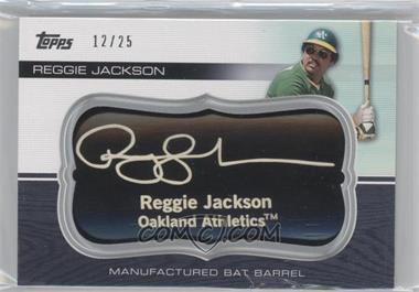 2010 Topps Update Series Manufactured Bat Barrels Black #MBB-169 - Reggie Jackson /25