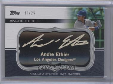 2010 Topps Update Series Manufactured Bat Barrels Black #MBB-24 - Andre Ethier /25