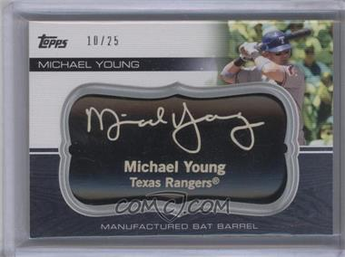 2010 Topps Update Series Manufactured Bat Barrels Black #MBB-72 - Michael Young /25