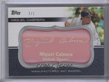 2010 Topps Update Series Manufactured Bat Barrels Pink #MBB-35 - Miguel Cabrera /1