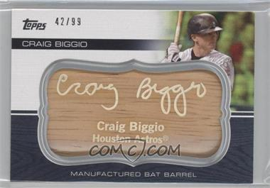 2010 Topps Update Series Manufactured Bat Barrels #MBB-112 - Craig Biggio /99