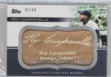 2010 Topps Update Series Manufactured Bat Barrels #MBB-120 - Roy Campanella /99
