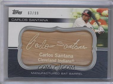2010 Topps Update Series Manufactured Bat Barrels #MBB-97 - Carlos Santana /99