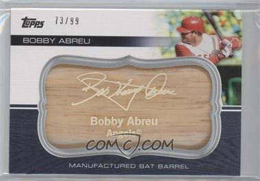 2010 Topps Update Series Manufactured Bat Barrels #MBB-98 - Bobby Abreu /99