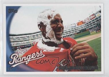 2010 Topps #435.2 - Nelson Cruz (Pie in Face)