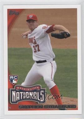 2010 Topps #661.4 - Stephen Strasburg (Arm Back)
