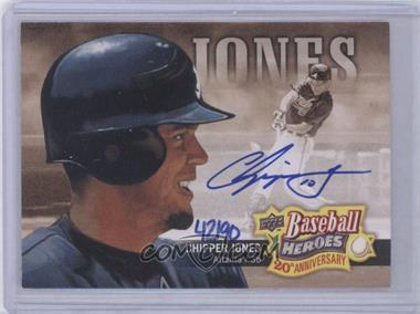 2010 Upper Deck - Baseball Heroes 20th Anniversary Art - Autographs [Autographed] #BHA-10 - Chipper Jones /90