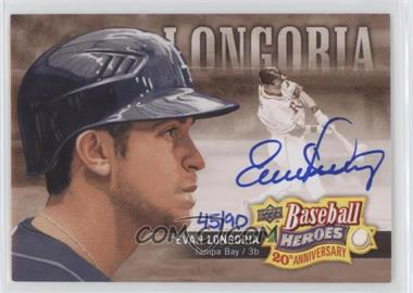 2010 Upper Deck - Baseball Heroes 20th Anniversary Art - Autographs [Autographed] #BHA-3 - Evan Longoria /90
