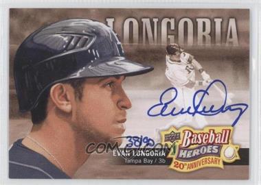 2010 Upper Deck - Baseball Heroes 20th Anniversary Art - Autographs [Autographed] #BHA-3 - Evan Longoria /90