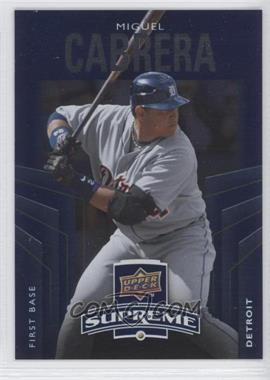 2010 Upper Deck - Supreme - Blue #S-65 - Miguel Cabrera