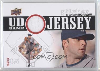 2010 Upper Deck - UD Game Jersey #UDGJ-BM - Brandon Morrow
