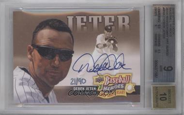 2010 Upper Deck Baseball Heroes 20th Anniversary Art Autographs [Autographed] #BHA-2 - Derek Jeter /90 [BGS9]