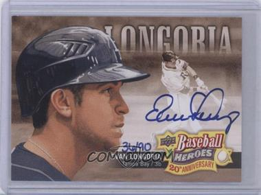 2010 Upper Deck Baseball Heroes 20th Anniversary Art Autographs [Autographed] #BHA-3 - Evan Longoria /90