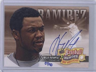 2010 Upper Deck Baseball Heroes 20th Anniversary Art Autographs [Autographed] #BHA-4 - Hanley Ramirez /90