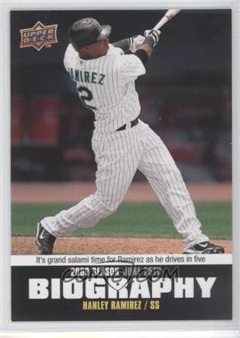 2010 Upper Deck Season Biography #SB-100 - Hanley Ramirez
